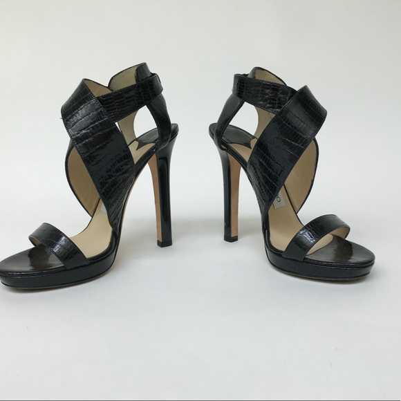 2bb67b17f65 Jimmy Choo Shoes - Pre-Owned Jimmy Choo Black Rap Patent High Heels
